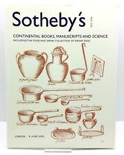 Sotheby's Auction Catalogue- CONTINENTAL BOOKS, MANUSCRIPTS & SCIENCE June 2005