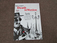 DEATH in VENICE the Stage Premiere Thomas Mann's Novel LYRIC Theatre Poster