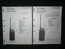 Kenwood TK-3160 Service Repair Manual Set UHF FM Transceiver TK 3160