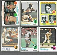 1973 Topps Baseball Cards, Rookies, HOF & Star Players, Special Cards, U Choose