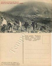 Cartolina di Pompei, ferrovia elettrica del Vesuvio - Napoli, 1906