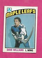 1976-77 OPC # 373 LEAFS DAVE TIGER WILLIAMS ROOKIE EX-MT CARD (INV# D7638)