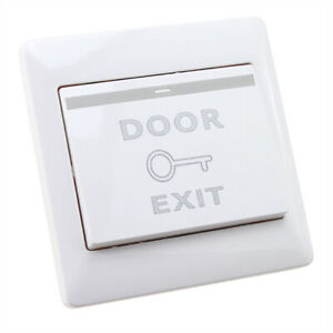 Door Lock Exit Button Push Release Open Switch Panel for Access Control System