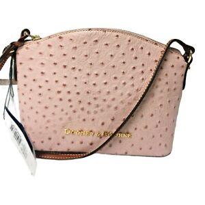 Dooney & Bourke Ostrich Ruby Crossbody Shoulder Bag ROSE WATER (light pink) NWT