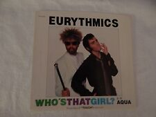 """Eurythmics """"Who's That Girl?"""" PICTURE SLEEVE! MINT! PERFECT! NICEST COPY eBAY!!"""