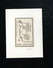 Bildstock EXLIBRIS,367a Irma Zeitner