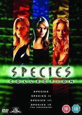 SPECIES COMPLETE MOVIE QUADRILOGY PART 1 2 3 4 Ben Kingsley NEW SEALED UK R2 DVD