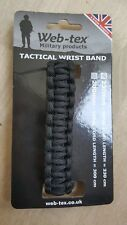 NEW BLACK ADULTS WEB TEX MILITARY TACTICAL WRISTBAND BLACK NEW  230mm