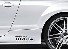 2x Side Skirt Stickers fits Powered by Toyota Graphics Premium Car Decals BL74