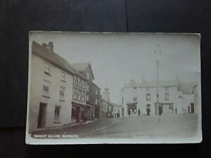Pembrokeshire photographic postcard of NARBERTH Market Square.