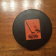WHA Vancouver Blazers  Biltrite B2 game puck large WHA skater logo , vintage