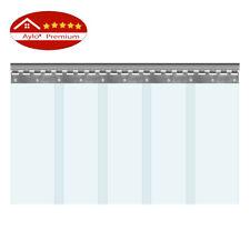 Aylo PVC Streifen SET Streifenvorhang Lamellen Transparent 200 x 2 mm