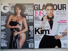 Lot of 2 Kim Kardashian July 2015 Glamour,July 2016 GQ Love Sex Madness Kim Nude