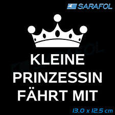 Prinzessin Auto Aufkleber Kinder 13x12,5cm Car Sticker baby on board mit Krone