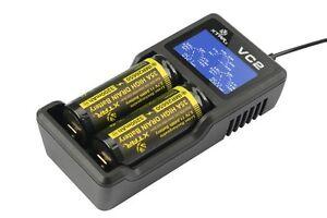 Xtar VC2 USB 2 Schacht Ladegerät für Li-Ionen Akkus