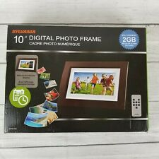 Sylvania LED Digital Photo Frame 2GB, Wood Finished with Remote Control SDPF1089