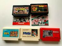 Lot3 Nintendo Famicom NES Cartridge Set JAPAN Used Game Set FC0016