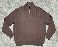 SCOTT BARBER 1 2 Zip Ribbed Merino Wool Sweater-Men s M- 37c29f026