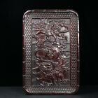 Chinese Natural Rosewood Hand-carved Exquisite Kirin Plate 12885