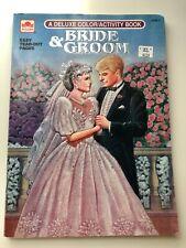 Vintage Bride & Groom- A Deluxe Color/Activity Book-1992 (w/ Paper Dolls)