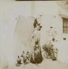 Femme en costume, ca.1900, Vintage citrate print vintage citrate print Tir