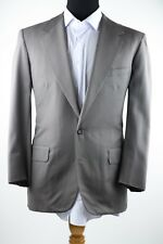 Oxxford Clothes Olive Green 100% Wool 2 Btn Jacket Pants Suits 42R 36/28 USA