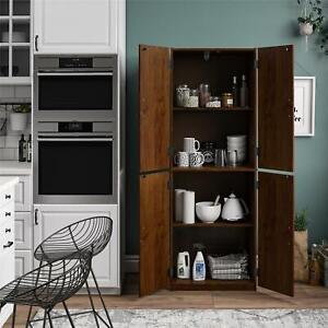 Tall Storage Pantry Kitchen Cabinet Organizer Utility Cupboard Closet Shelves