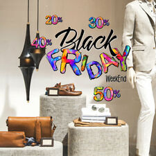 UVBF0010 Vetrofanie Black Friday adesivi per vetrine negozi promozioni 60x35 cm