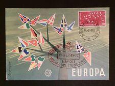 Italia MK 1962 EUROPA CEPT maximum carta carte MAXIMUM CARD MC cm c8202