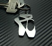 BALLET SHOES Dancer Ballerina Pointe Royal Dance Keyring Keychain Key Fob Gift