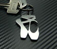 BALLET SHOES Dancer Ballerina Pointe Royal Dance Keyring Keychain Key Fob Gift