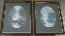 2 PASTORAL PRINTS BY ANTHONY WALLER  -  WOOD FRAMES