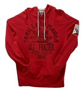 Roots of Fight Muhammad Ail Thrilla In Manila Souvenir Pullover Hoodie Red XL