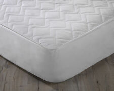 Pure Australian Wool Filled Quilted Mattress Protector with 38cm Deep Skirt