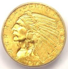 1914 Indian Gold Quarter Eagle $2.50 Coin - Certified ICG MS63 - $2,190 Value!