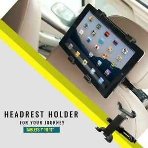 """universal headrest car seat holder mount for tablets 7"""" to 11"""" ipad air kindle"""