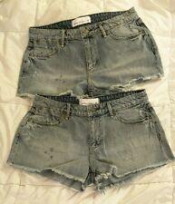 BNWT Paper Denim & Cloth Women's Classic 5 Vintage Cotton Cut-off Shorts Size 28