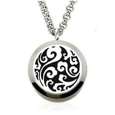 Clouds Round Aromatherapy Essential Oil/Perfume Diffuser Locket Pendant Necklace