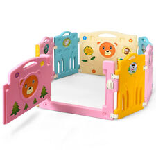 8 Panel Baby Playpen Activity Center For Safety Play Yard Home Kids Gift