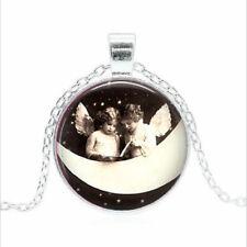 Angel Children Tibet silver Glass dome Necklace chain Pendant Wholesale