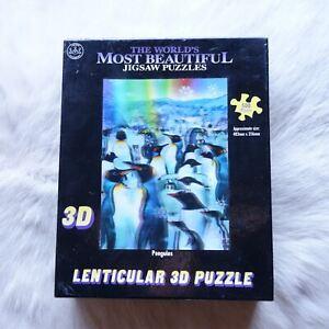 Lenticular 3D Puzzle PENGUINS 500 Pcs Jigsaw Puzzle 483 x 356mm ANIMALS Winter