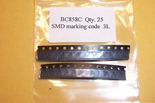 BC858C PNP SMD SOT-23  High gain Audio/Switching  transistors Qty. 25  NEW