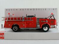 """Busch 46030 LaFrance Pumper Cabrio (1968) """"Fire Department"""" 1:87/H0 NEU/OVP"""