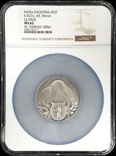 Swiss Shooting Fest Medal, R-827a, AR, 50mm, Glarus, NGC graded MS 62!
