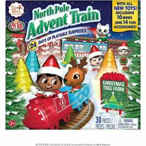 Elf on the Shelf - North Pole Advent calendar Train  Inc 10 Elf & Pet Minis!