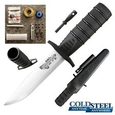 Cold Steel - SURVIVAL EDGE Fixed Blade Knife (Black) w/ Sheath 80PHBZ New