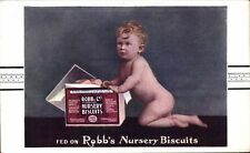 Advertising. Robb's Nursery Biscuits, London. Child Food.