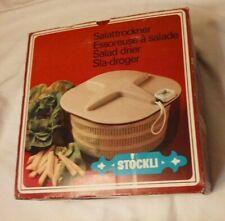 New listing Vintage Stockli Salattrockner Swiss Made Salad Spinner Salad Drier W/ Pull Cord