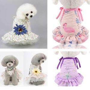 Tutu Pet Puppy Small Dog Lace Princess Mesh Dress Skirt Clothes Apparel Summer