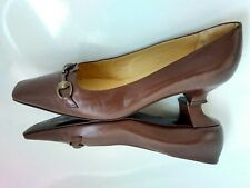 RUSSELL & BROMLEY court shoes size 5.5 100% Leather low heel --VGC-- brown